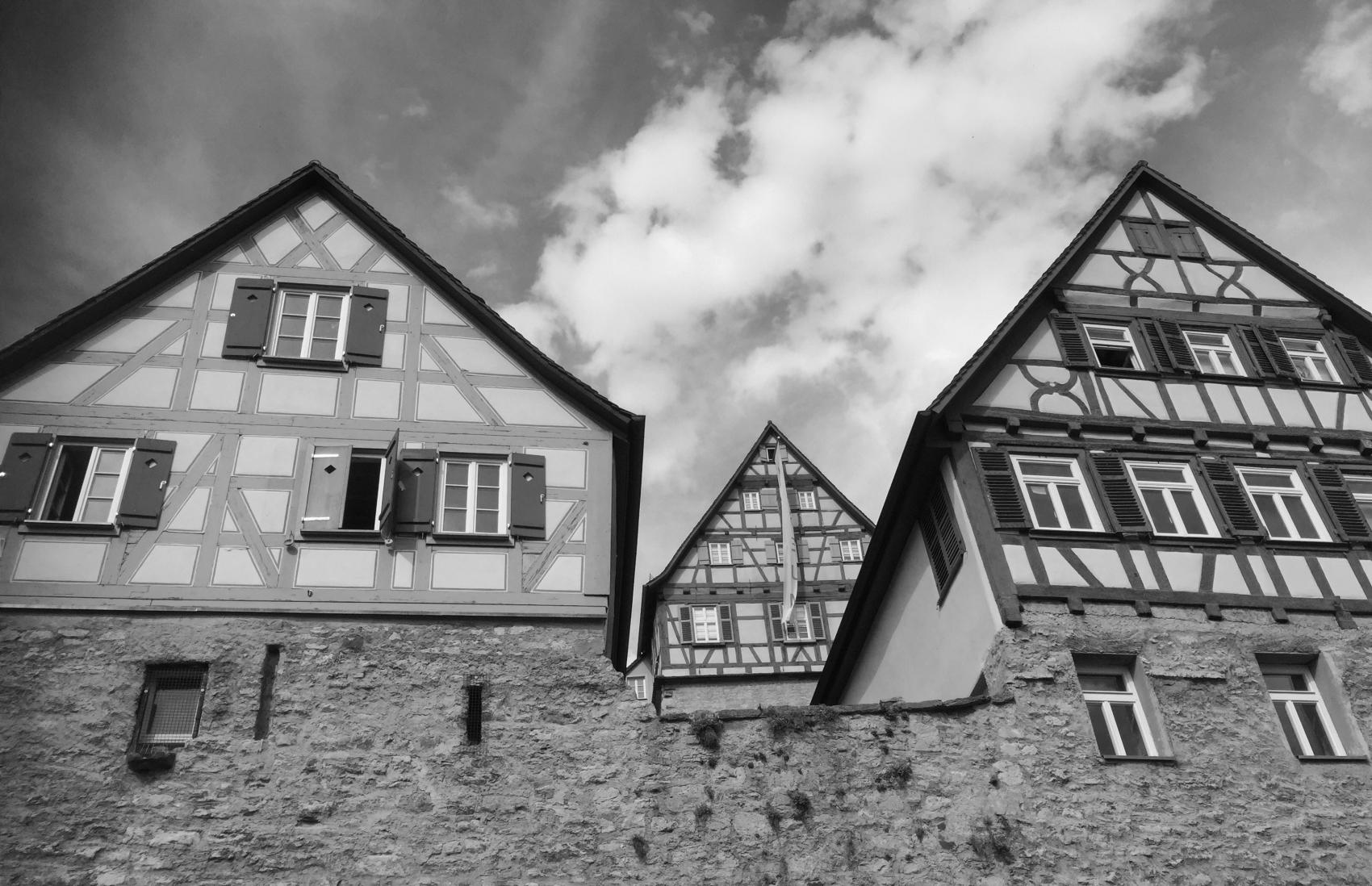 Schwaebisch Hall schwarz/weiss